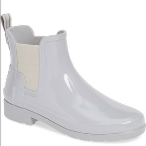 NEW Hunter Original Refined Chelsea Rain Boot Grey